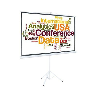 "100"" Tripod 16:9 HD Auto Lock Projector Projection Screen with Portable Stand"
