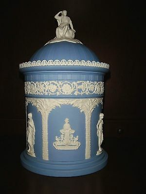 "Wedgwood ""Selfridge"" Figural Humidor - Blue Jasperware"