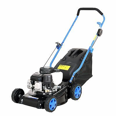 "New Push Lawn mower 99CC 4stroke Engine 16"" Mulching 40L Grass Catcher Lawnmower"