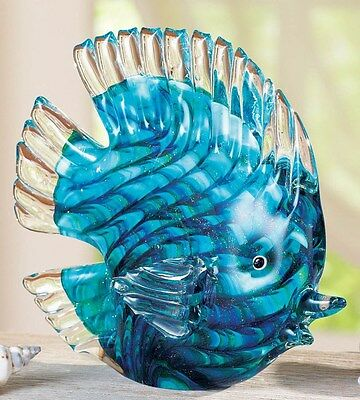 Tropical Tabletop Glass Fish