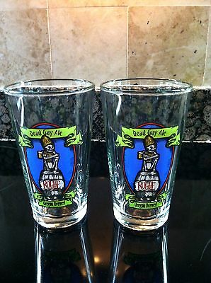 Dead Guy Ale Rogue Oregon Brewed New Pint Glasses Lot Of 4