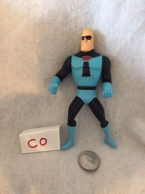 "2003 Blue Mr Incredible 5.5"" Hasbro Action Figure Disney Pixar Incredibles GUC"