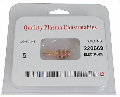 5 Pcs 220669 Fits Hypertherm® Powermax® 45 Aftermarket Electrode *Ships from USA