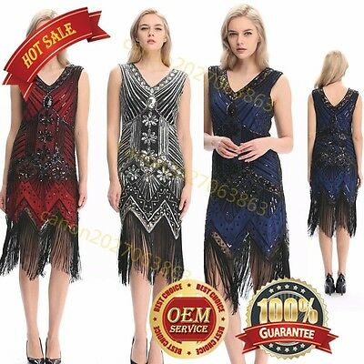 Flapper Girl 1920s Sequined Inspired Beaded Gatsby Flapper Club Dress Plus Sizes