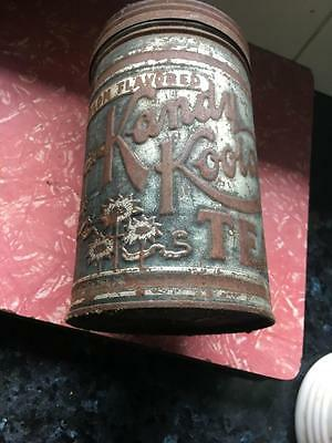 Vintage Tea Tin - Kande Koola With Lid / 1Lb Net Rare Old  Collectable - Buy Now