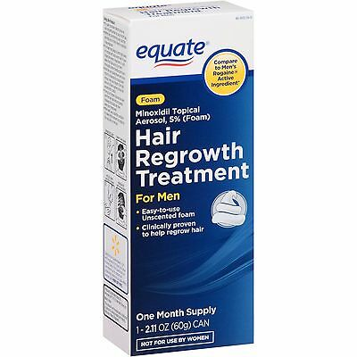 Equate Hair Regrowth Treatment for Men Minoxidil Topical Aerosol 5% Foam, 2.11OZ