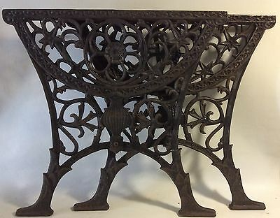 Vintage Cast Iron Table Ends