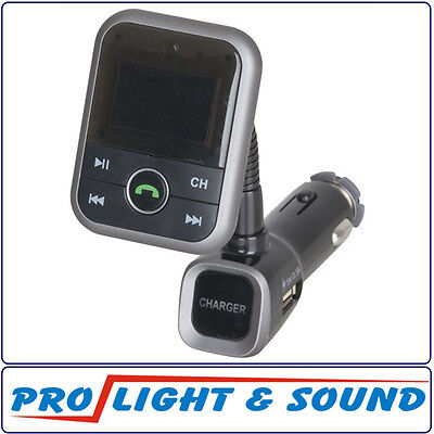 Bluetooth Handsfree with FM Transmitter and 2.1A USB Charger