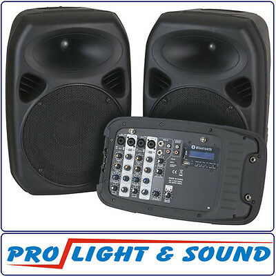 250mm (10 Inch) PA Speaker System with 2 channel UHF Microphones