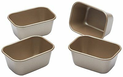 Paul Hollywood by KitchenCraft Non-Stick Mini Loaf Tins, 9 x 6 cm Set of 4