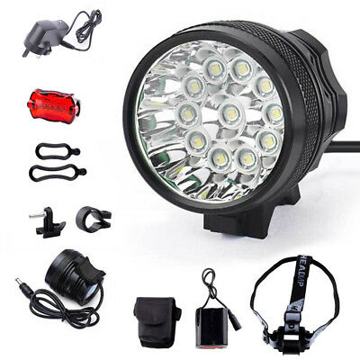 35000Lm 11x T6 LED Front Bike Bicycle Cycling Head Light Headlamp Super Bright