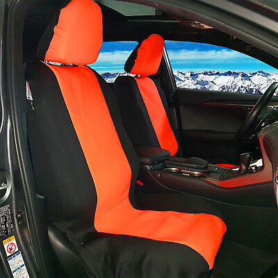 WETSUIT WATERPROOF NEOPRENE Red Black Front Bucket Auto Seat Covers - Acura seat covers