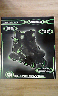 Flash Wired In-Line Skates -New Boxed -Boys & Girls
