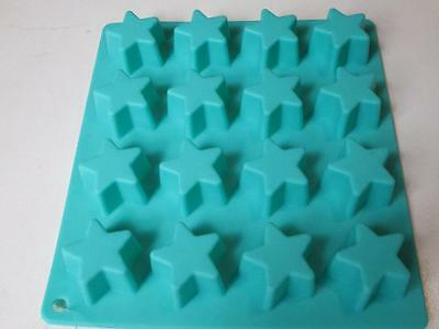 Silicon chocolate star birthday party chocolate candy mould OUTER SPACE GREEN