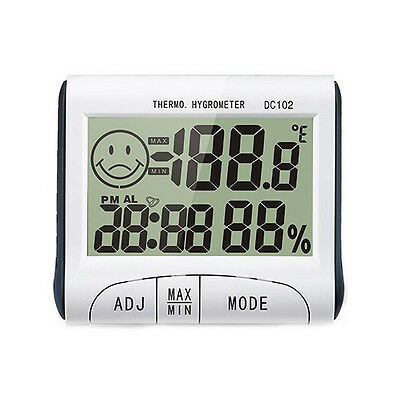 New Digital Indoor Hygrometer Thermometer LCD Display Alarm Clock Timer DC102