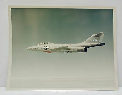 McDonnell Douglas 1957 Color Photograph of F 101 FB 233 Air Force Jet Stamped