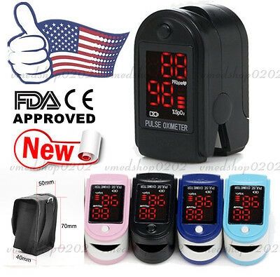 FDA US Seller CONTEC CMS50DL Finger Tip Pulse Oximeter Blood Oxygen SpO2 Monitor