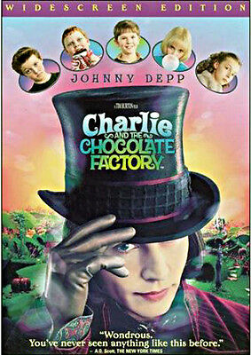 Charlie and the Chocolate Factory DVD Movie [2005] Johnny Depp - Widescreen