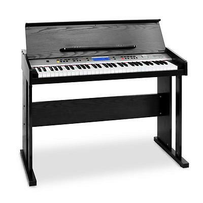 Electric Piano 61-Key Keyboard Midi Black Monitoring Recording Learning Function