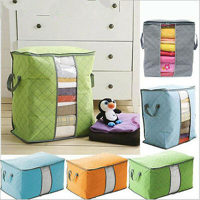 Foldable Home Closet Storage Bag Organizer Box Anti-bacterial Clothes Quilt UP