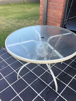 Outdoor Glass Table
