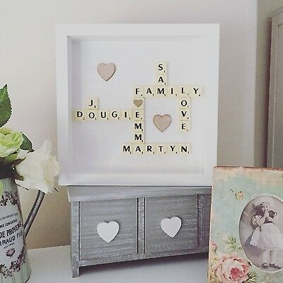 Scrabble Personalised Art Frame Picture