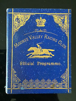 RARE 1894 Moonee Valley Cup race book special hard cover