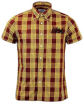 Brutus/Dr Martens DM10 Trimfit yellow/oxblood shirt size small LAST FEW HURRY UP
