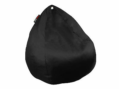 New BeanPod Chair Couch Cafe Bean Bag Cover Waterproof Indoor Outdoor Black