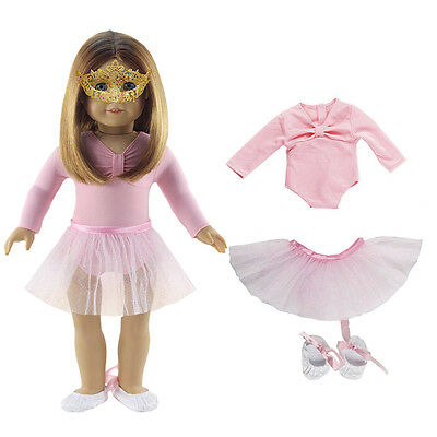 """1 Set Handmade Pink Doll Clothes Ballet Dress Fits for 18"""" American Girl Dolls ~"""