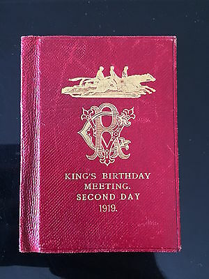 RARE 1919 Flemington Kings Birthday meeting  race book special cover