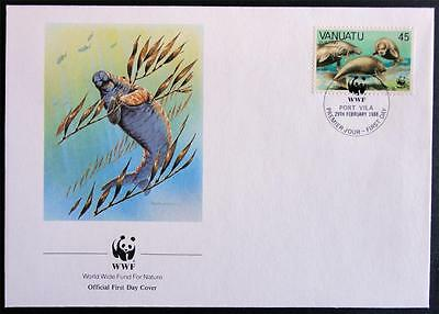 Vanuatu 1988 'Dugong' WWF Official First Day Cover (FDC) #2