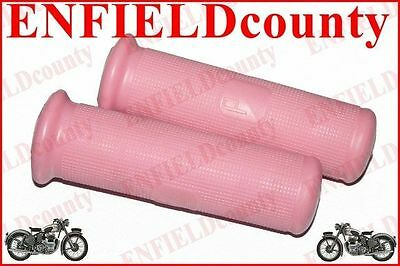 NEW PINK COLOUR TWIST HEADSET RUBBER GRIP PAIR SPRINT VBA VBB 22mm HOLE@CAD