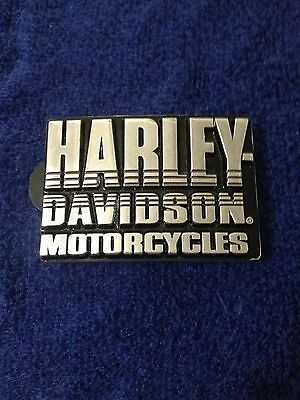 Harley Davidson Stacked Letters Belt Buckle Very Nice Motorcycles