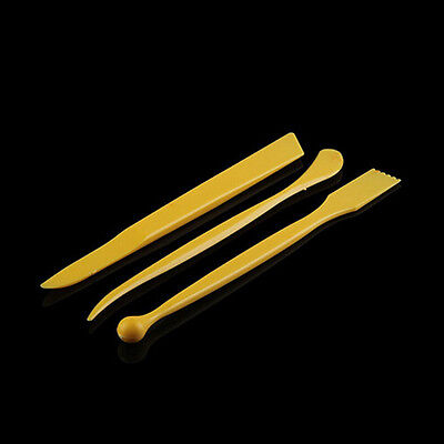 New 3PCS 8inch Plastic Clay Sculpture Pottery Sharpen Modeling Tools