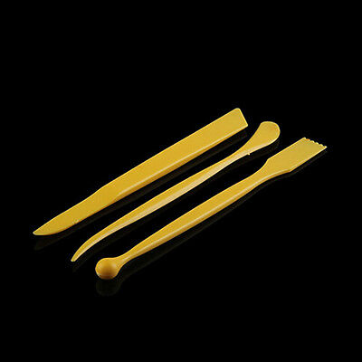 New 3PCS 8inch Wooden Clay Sculpture Pottery Sharpen Modeling Tools
