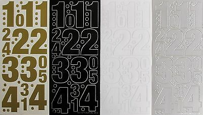 MIXED NUMBERS 50mm 1-4 & 5-9 25mm 1-5 & 5-10 PEEL OFF STICKERS Large 5cm 2.5cm