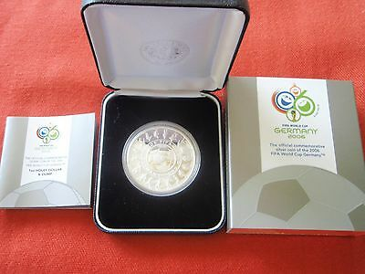 2006 FIFA World Cup - Germany - Holey Dollar and Dump 1oz Silver Australian Coin