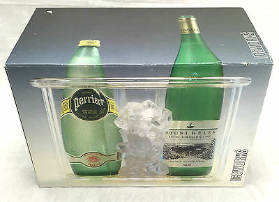 Decor Insulated 2 Bottle Wine Cooler ICEWORKS Acrylic Winewell Ice Cold Chiller
