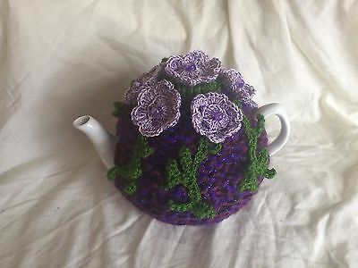 Hand lovely knitted tea cosy 4 cup  FOR  CHRISTMAS