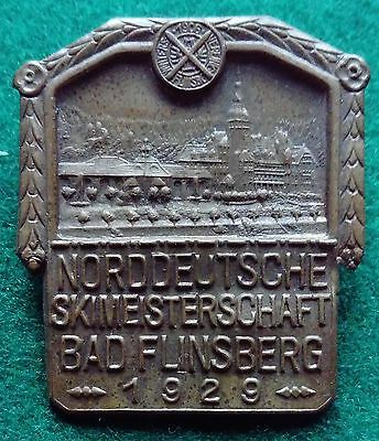 1929 German Bad Flinsberg Norddeutsche Skimeisterschaft ski badge