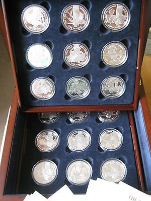 Victoria Cross 2006 Channel Island Set Collection 18 Sterling Silver Proof coins