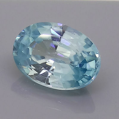 1.17ct oval cut natural blue zircon 7 x 5mm