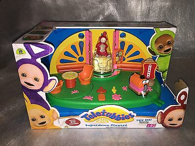 NEW IN BOX Teletubbies Superdome Light & Sound Toy Playset With Po Figure