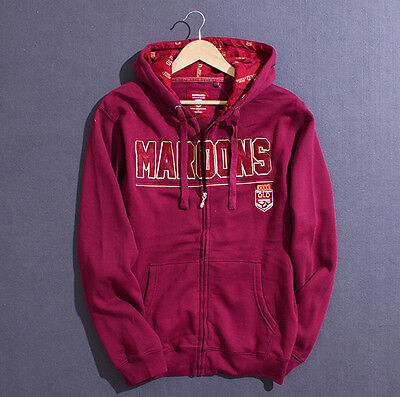 Australia Queensland State of Origin Maroon Mens Zip Up Hoody