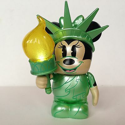Disney Vinylmation New York Liberty Minnie Mouse Rare NYC Collectible With Light