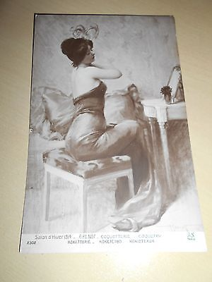 Early 1914 Risque Glamour Pc - Beautiful Lady - Vgc