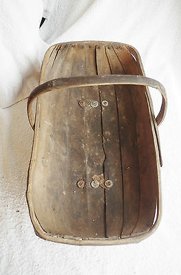 Large Antique gardening wooden Trugg vintage retro horticulture collectable