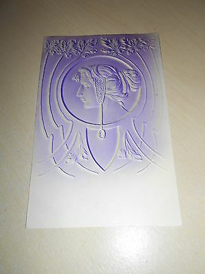 Lovely 1905 Embossed Art Nouveau Period Postcard - Vgc