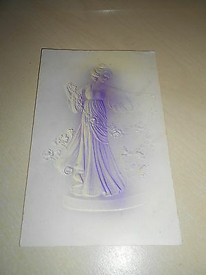 LOVELY EARLY 1900s EMBOSSED ART NOUVEAU PERIOD POSTCARD - VGC